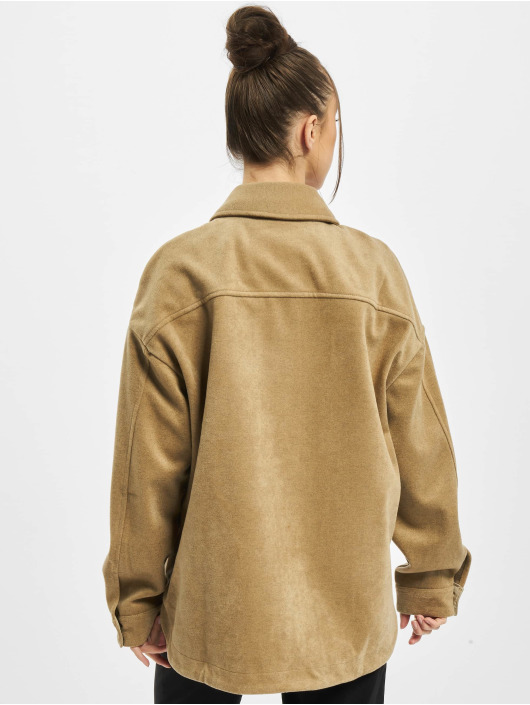 Urban Classics overhemd Ladies Classic bruin