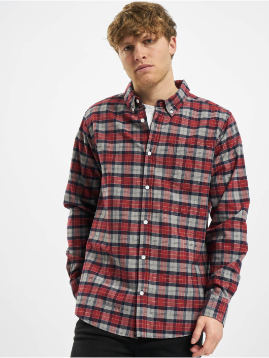 Urban Classics overhemd Plaid Cotton grijs