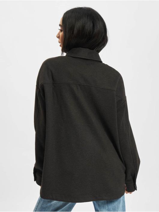 Urban Classics overhemd Ladies Classic grijs