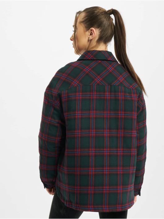 Urban Classics overhemd Ladies Padded groen