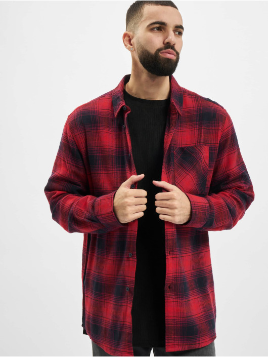 Urban Classics overhemd Oversized Checked Grunge rood