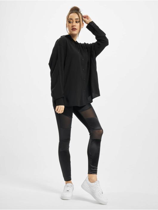 Urban Classics overhemd Viscose Oversize zwart