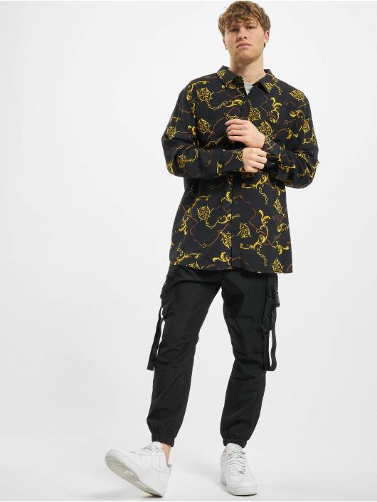 Urban Classics overhemd Viscose zwart