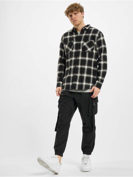 Urban Classics overhemd Checked 6 Flanell zwart