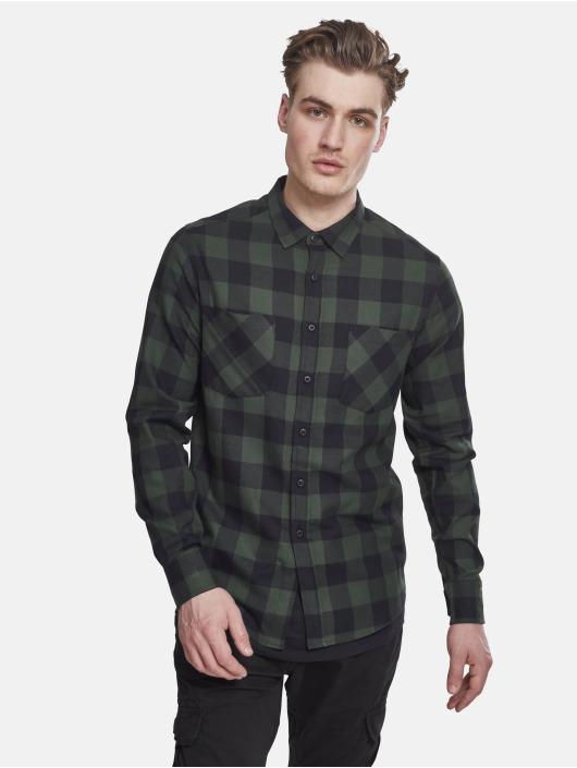 Urban Classics overhemd Checked Flanell zwart