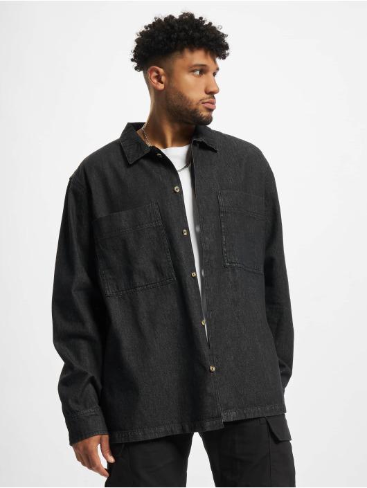 Urban Classics overhemd Oversized Denim zwart