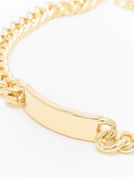 Urban Classics Overige Plate Necklace goud