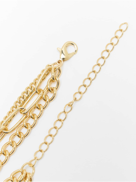 Urban Classics Overige Layering Chain Necklace goud