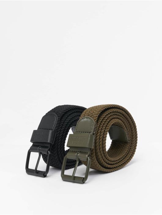 Urban Classics Pásky Elastic 2-Pack čern