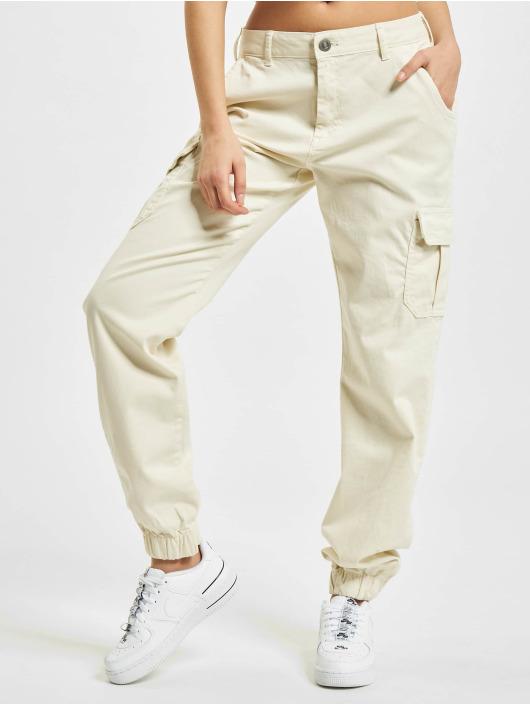 Urban Classics Pantalon cargo High Waist blanc