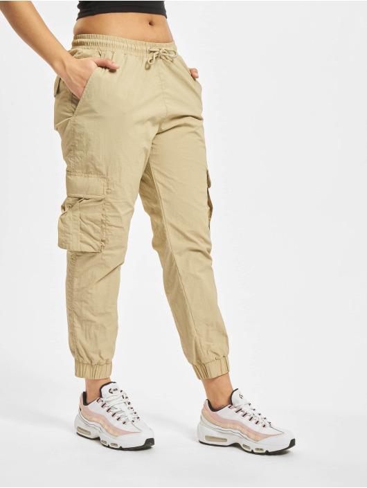 Urban Classics Pantalon cargo Ladies High Waist Crinkle Nylon brun