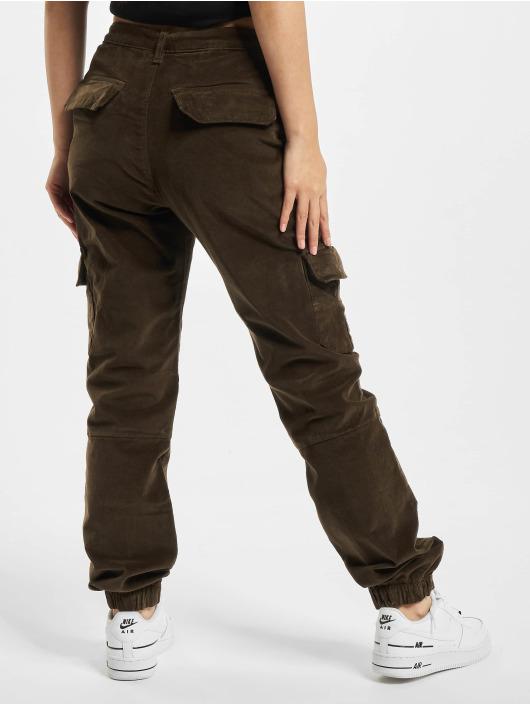 Urban Classics Pantalon cargo Ladies High Waist olive