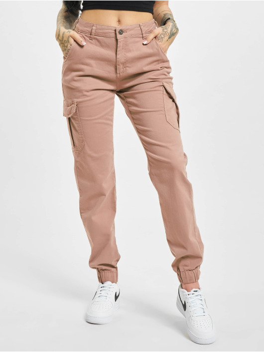 Urban Classics Pantalon cargo High Waist rose