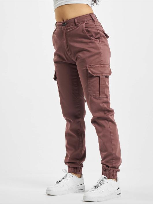 Urban Classics Pantalon cargo Ladies High Waist rouge