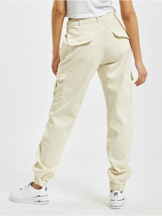 Urban Classics Pantalone Cargo High Waist bianco