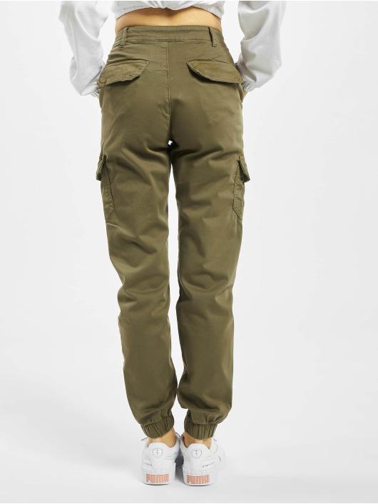 Urban Classics Pantalone Cargo Ladies High Waist Cargo oliva