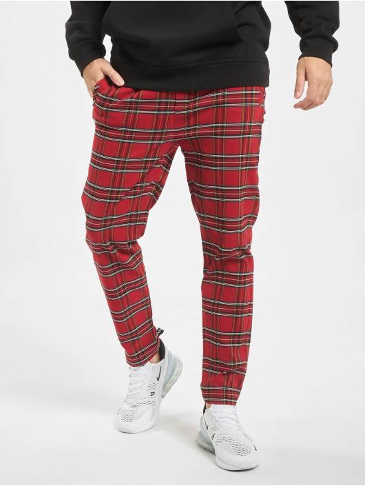 Urban Classics Pantalone chino Tartan rosso