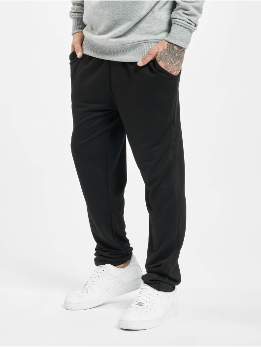 Urban Classics Pantalone ginnico Modal Terry Tapered nero
