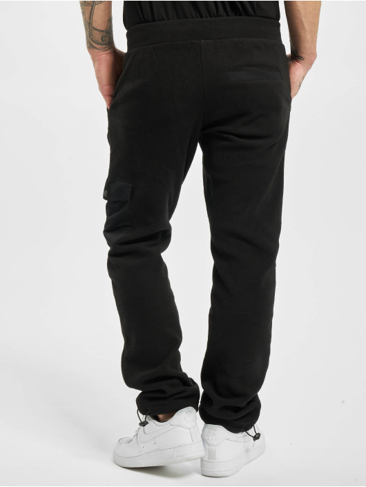 Urban Classics Pantalone ginnico Polar Fleece nero