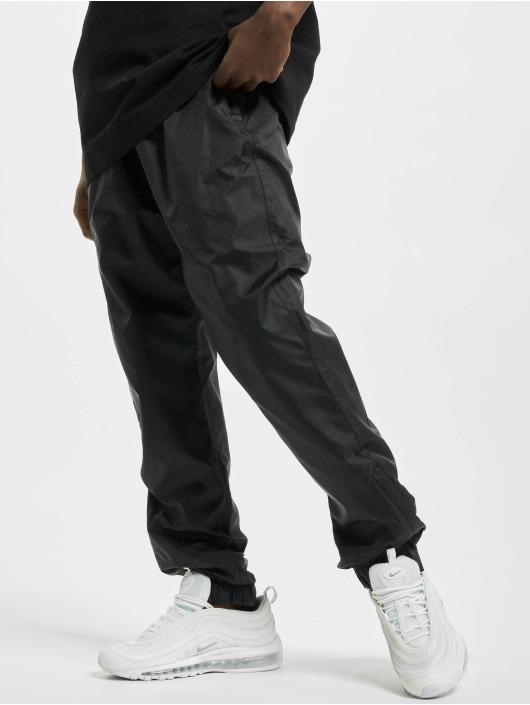 Urban Classics Pantalone ginnico Jacquard nero