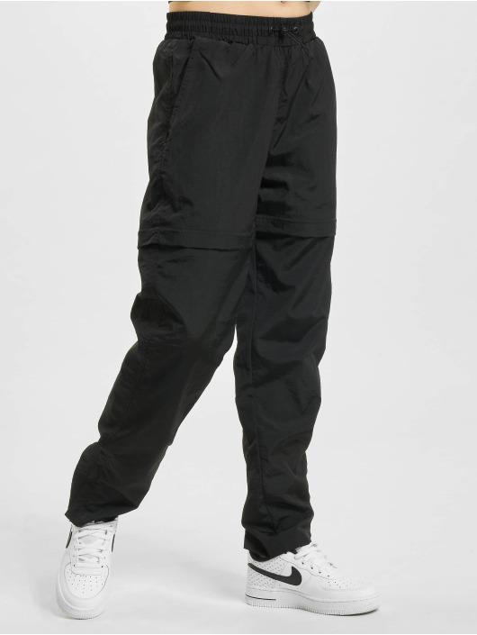 Urban Classics Pantalone ginnico Shiny Crinkle Nylon Zip nero