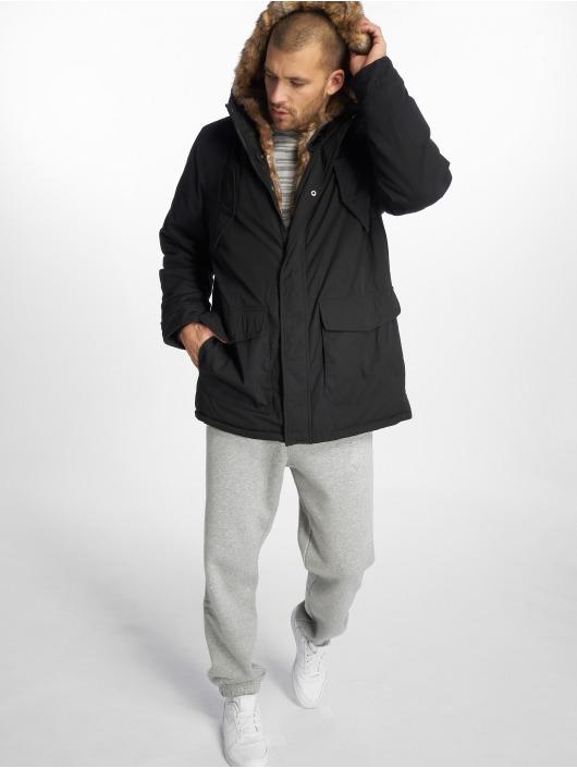 Urban Classics Parka Hooded Faux Fur èierna