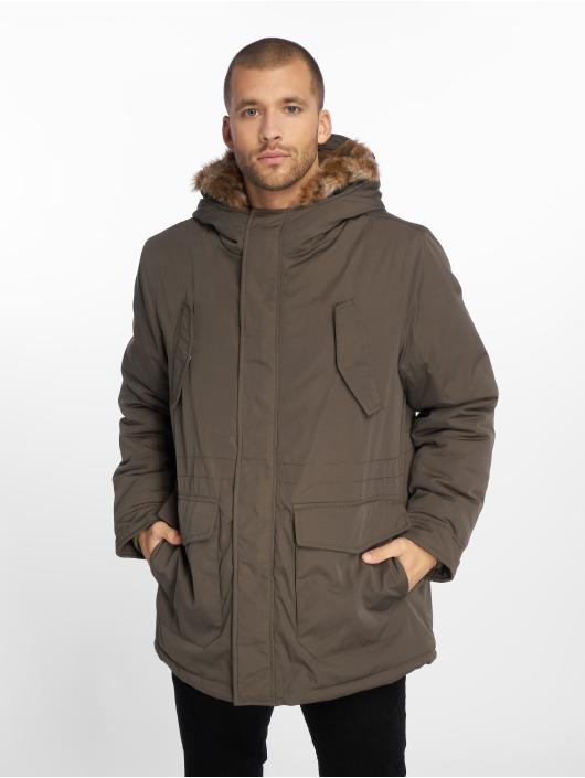 Urban Fur Faux Homme 563225 Parka Olive Classics Hooded 7IvYb6gfy