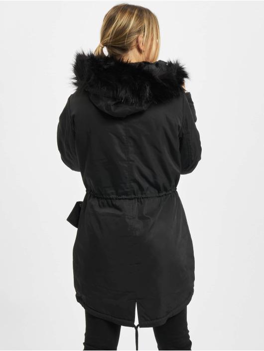 Urban Classics Parka Ladies Faux Fur sort