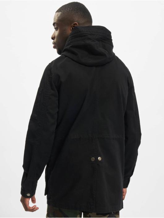 Urban Classics Parka Cotton zwart