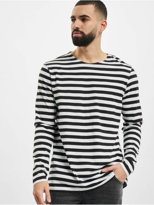 Urban Classics Pitkähihaiset paidat Regular Stripe LS valkoinen