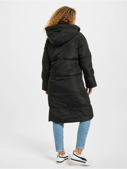 Urban Classics Płaszcze Oversized Hooded Puffer czarny