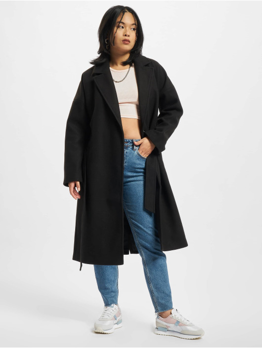 Urban Classics Płaszcze Ladies Oversized Classic czarny