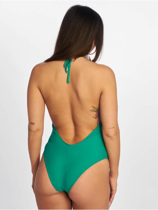 Urban Classics Plavky Deep Neck zelená