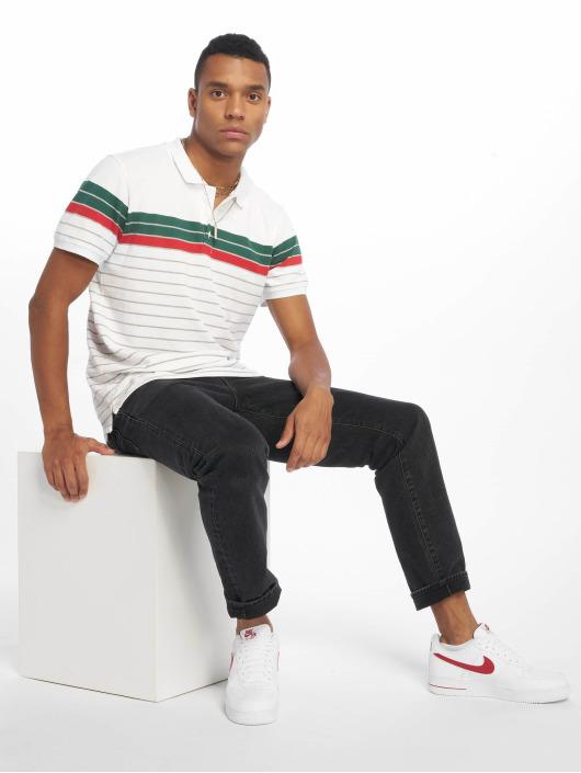 Urban Classics Polo Classic Stripe blanc