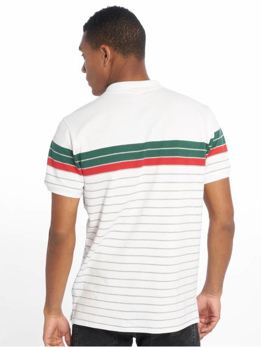 Urban Classics Poloshirt Classic Stripe weiß