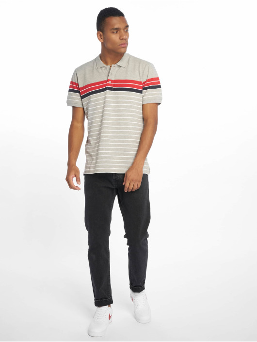 Urban Classics Poloskjorter Classic Stripe grå