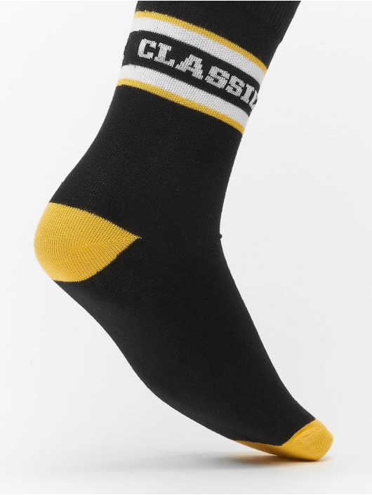 Urban Classics Ponožky 2-Pack Logo Stripe Sport èierna