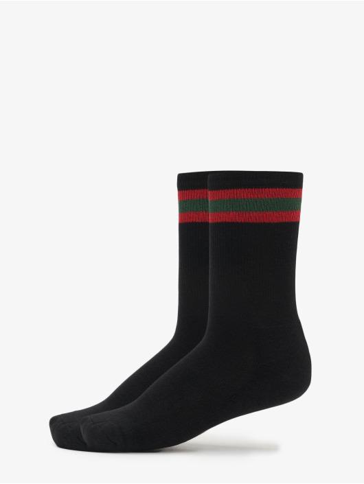 Urban Classics Ponožky 2-Pack Stripy Sport èierna