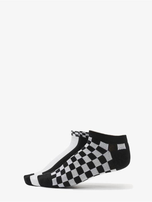 Urban Classics Ponožky Sneaker Socks Checks 3-Pack čern