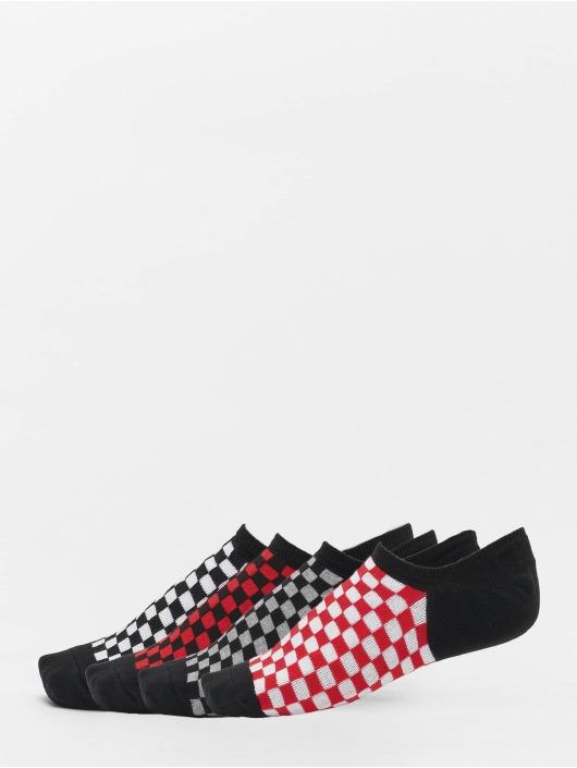 Urban Classics Ponožky Recycled Yarn Check Invisible 4-Pack čern