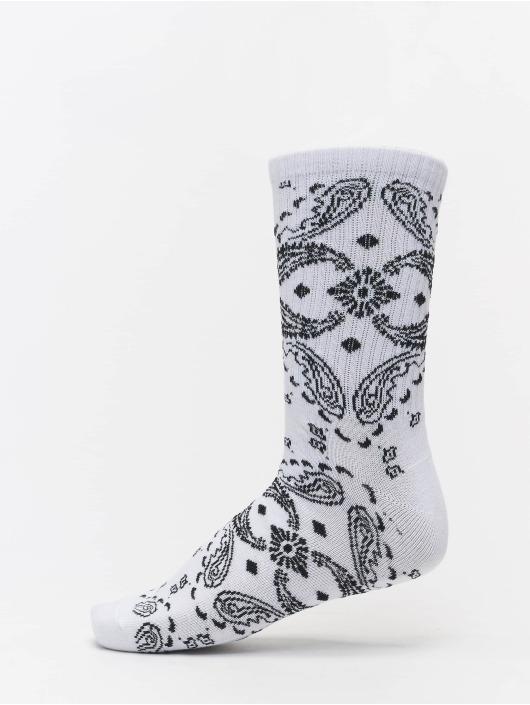 Urban Classics Ponožky Bandana Pattern 3-Pack bílý