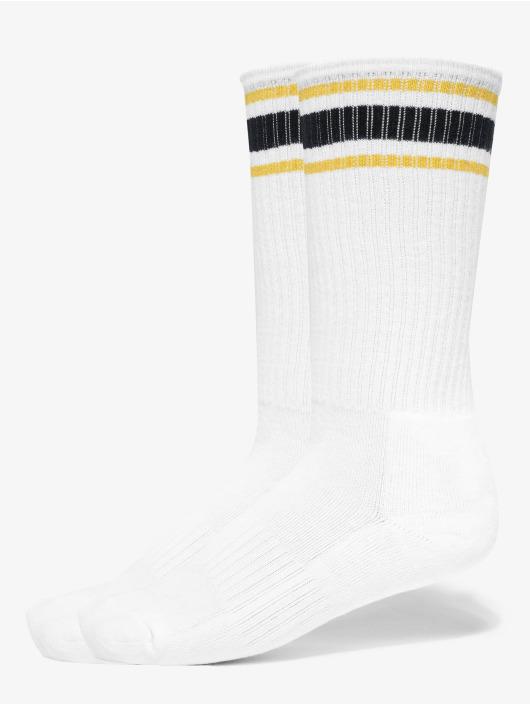 Urban Classics Ponožky Long Stripe 2-Pack biela