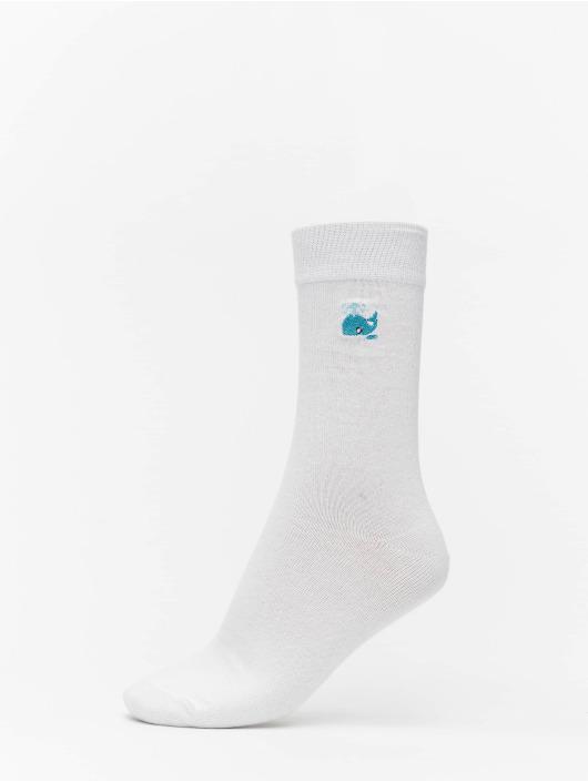 Urban Classics Ponožky Fun Embroidery Socks 3-Pack biela