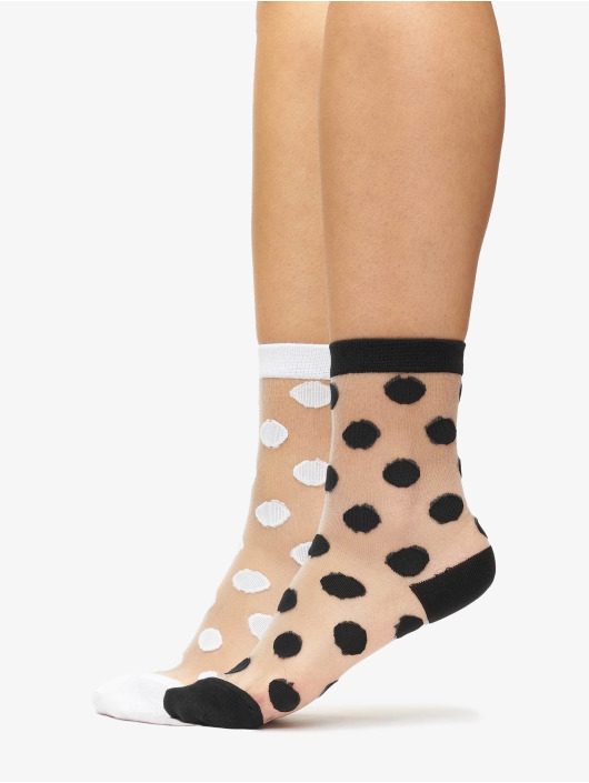 Urban Classics Ponožky Net Socks Dots biela