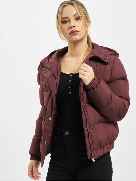 Urban Classics Prešívané bundy Ladies Hooded èervená