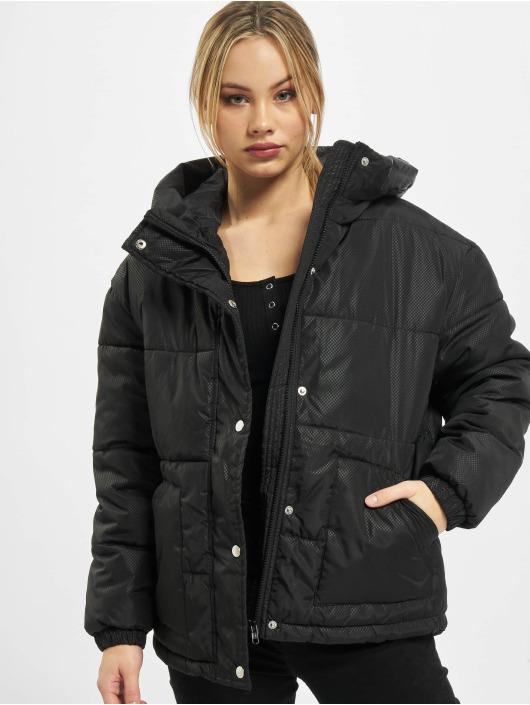 Urban Classics Prešívané bundy Ladies Oversized Hooded èierna