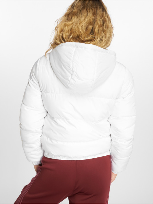 Urban Classics Prešívané bundy Hooded Puffer biela