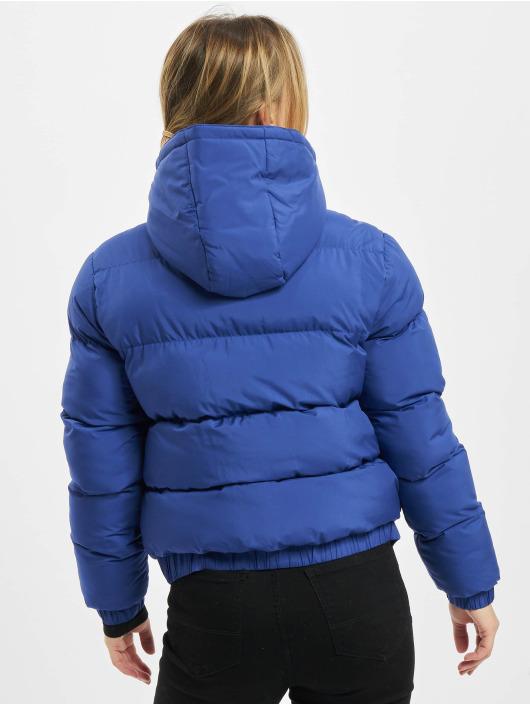 Urban Classics Prešívané bundy Ladies Hooded modrá