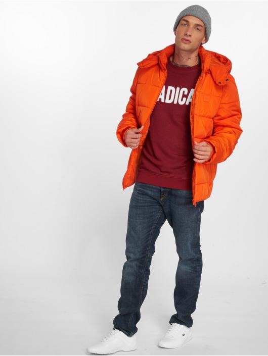 Urban Classics Prešívané bundy Hooded oranžová