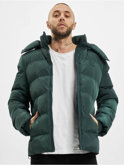 Urban Classics Prešívané bundy Hooded zelená
